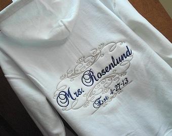 Sale on Wedding Day Sweater, Mrs. Bride Bridal hoodie jacket, Bride sweatshirt