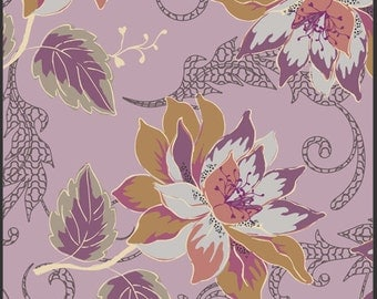 Art Gallery Fabric - Rock 'n Romance Collection - Wild Heart Spirited - Dusty Violet - Patricia Bravo