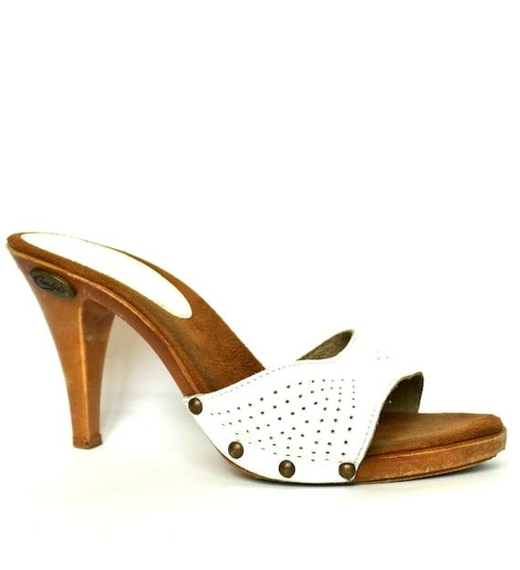 Vintage Candies Shoes Wooden Heels