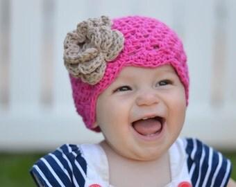hat, girls, baby, baby hat, girls hat, pink, pink hat, newborn, newborn girl hat, kids hat