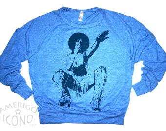 Sample Sale ICONO FUNK: Chaka Kahn - Athletic Blue Pullover