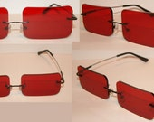 Red Rectangle V2 Cosplay Costume Glasses