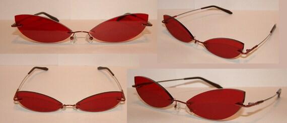 Red Cosplay Costume Glasses V1