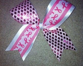 Cheerleading Breast Cancer Bows