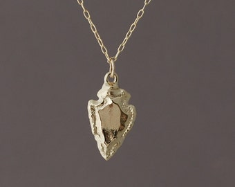 Small Gold Arrowhead Necklace also in Silver