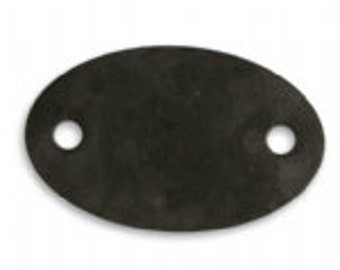 Vintaj 34.5x21.5mm Oval 2 Hole Blank  - Arte Metal (2)