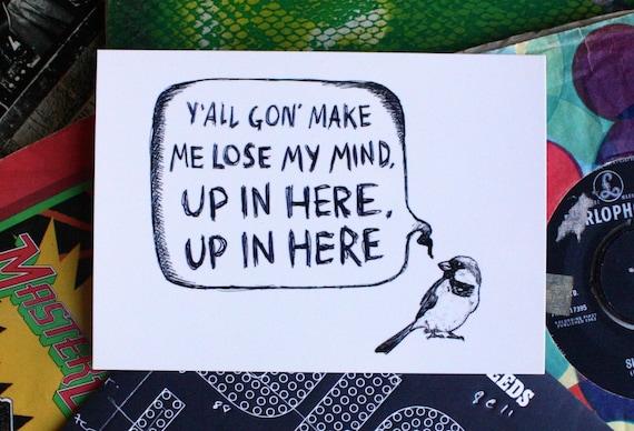 Where My Birds At - postcard print