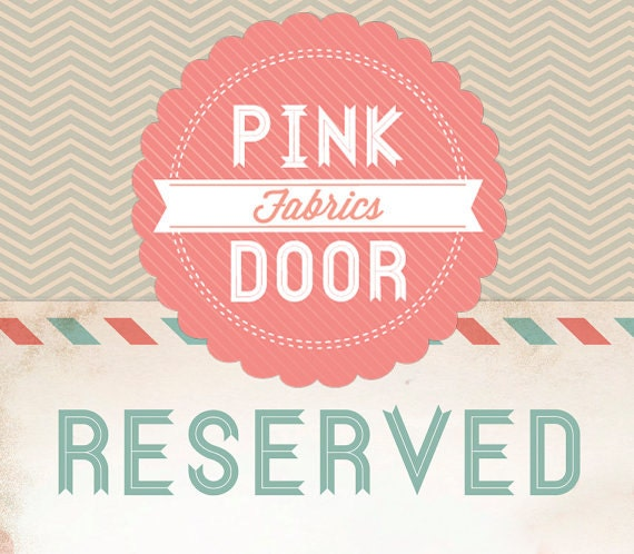 Reserved for Becky - 2 yards Hot Pink Chevron