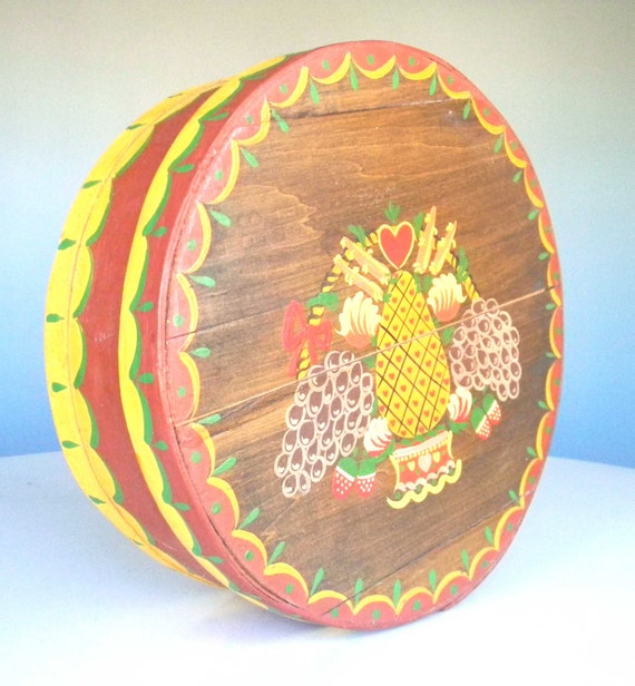 Items Similar To Vintage Dufeck S Cheese Box Wooden