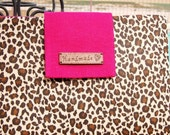 iPad Air case,Ipad4 case,ipad with Retina display case,brown leopard case for ipad,Hot pink flap,iPad3 cover.Tablet case, The new  iPad case