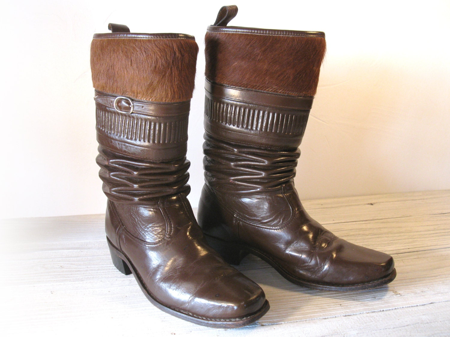 Men S Gaucho Vaquero Old West Cowboy Boots With By