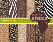 Out of Africa Digital Paper - Set of 12 - COMMERCIAL USE Read Terms Below