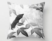 Photo Pillow Cover, Pillow Case, Decorative Pillow, 16x16 18x18 20x20, Black and White Decor