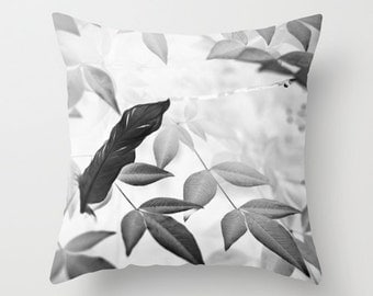 Photo Pillow Cover, Pillow Case, Decorative Pillow, 16x16 18x18 20x20, Black and White Decor