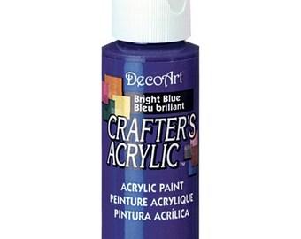 Bright Blue Acrylic Paint (2 Bottles)