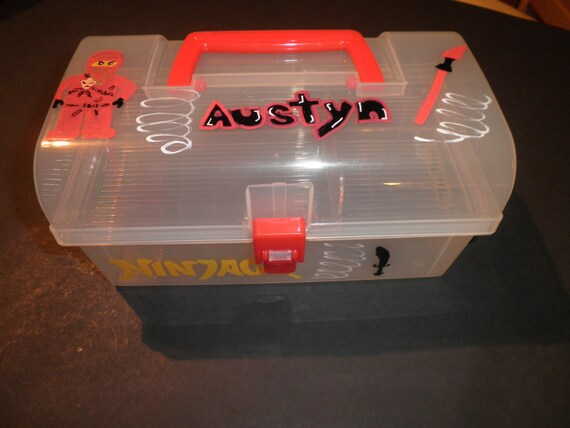 Lego Ninjago Personalized Portable Activity Kit Storage Lego Gift Holder Customized Lego Box for Boys and Girls
