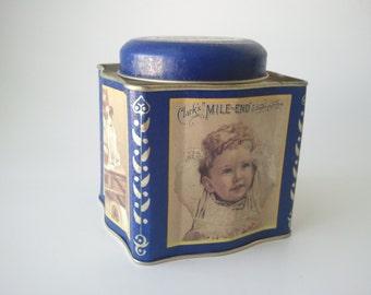 Clark's Spool Cotton tin