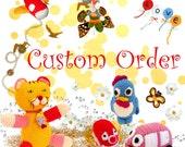 Custom order for Kara-Applique set 23pcs