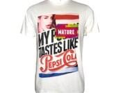 Lana Del Rey t shirt pepsi cola song white tee - MATURE t-shirt
