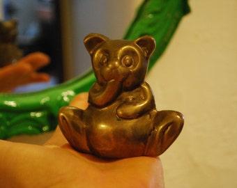 Antique SOLID BRASS Teddy BEAR