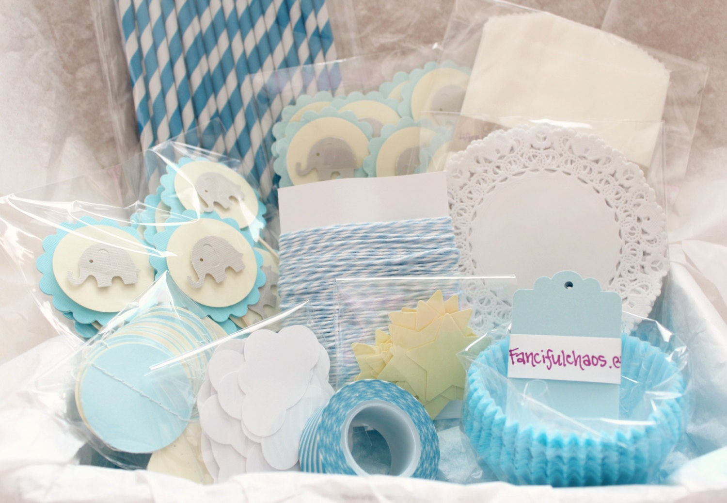 boy baby shower birthday elephant party decorations party