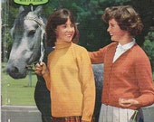 On Sale - Paton's Knitting Pattern No 644  for Girls Wear  Jumpers and Cardigans age 6 to 16 years - Vintage 1960s, Sweaters, Jackets