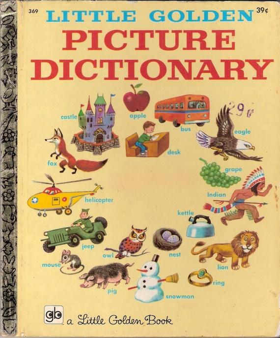Little Golden Picture Dictionary Vintage Little Golden Book
