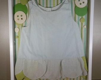 Vintage Shadow Box / Baby Dress Display / Baby Decor