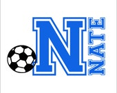 Soccer Ball Large Vinyl Wall Decal Personalized Name Initial Wall Decal Boy Girl Teen Bedroom Housewares Home Decor