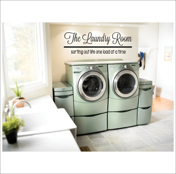 The laundry room vinyl wall decal large vinyl decor laundry for Decoration adhesif mural