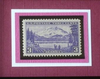 The Alaska Territory - Vintage Framed Postage Stamp - No. 800