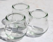 Set of 3 medical ventouse suction cups or Chinese fire glasses - alternative therapy