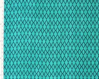 SALE-Rayon Batik - The Batik Butik - Shamrock Diamond Screen (3002) -1 yard