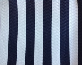 2 Pillow Covers 18x18 inch-Free US Shipping -  Chapman Stripe Navy/White Outdoor Fabric