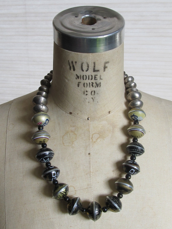 Handmade beer bottle cap bead necklace bbn003 for Beer cap jewelry
