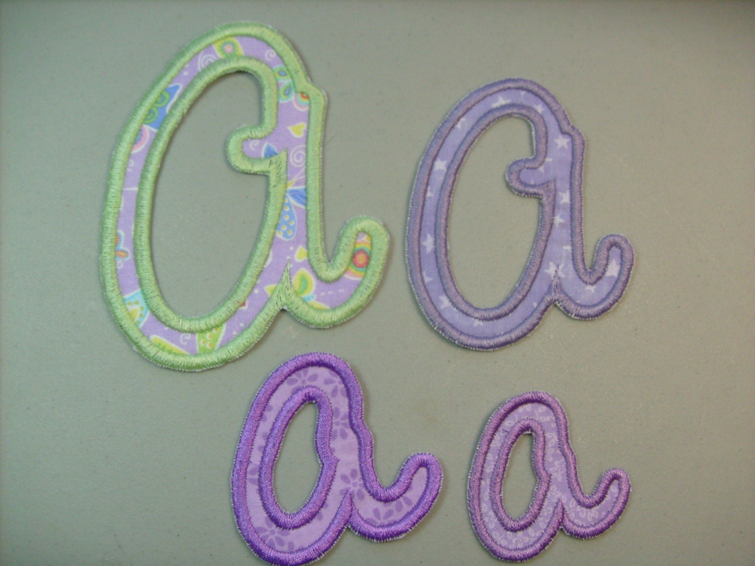 Sew On Letters For Clothing Script Monogram Letter Iron On Or Sew On Machine Embroidered