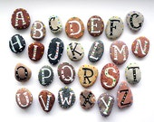 Alphabet Stones with Magnets, Funny ABC, Cheap Gift Ideas, Painted Sea Stones, Educational Toys, Rocks, Beach Pebbles by Happy Emotions,