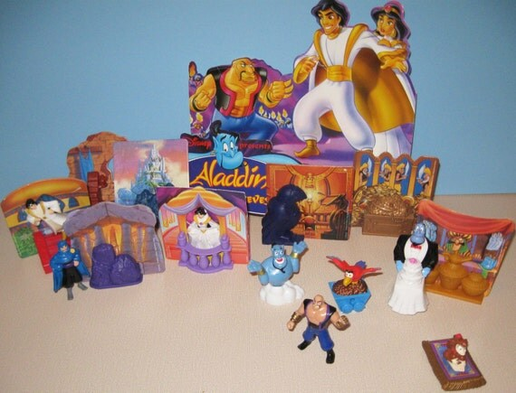Aladdin McDonalds display toys