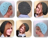 Crochet Hat - Cable and Eyelet Design - INSTANT DOWNLOAD PDF from Thomasina Cummings Designs