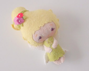 Felt Doll - Small Doll - Girls Toy - Fairy  Doll - Gingermelon Doll - Tinkerbell