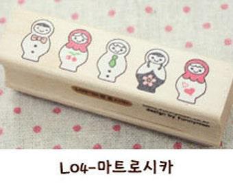 1 Pcs Korea DIY Wood Rubber Stamp-Lace Stamps L04