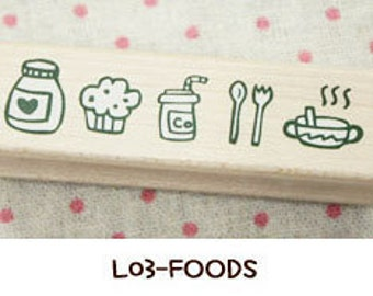 1 Pcs Korea DIY Wood Rubber Stamp-Lace Stamps L03