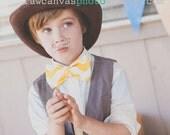 Chevron Fabric Bow Tie, Clip-on Bow Tie, Yellow Chevron, Premier Prints