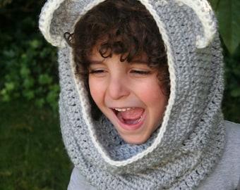 CROCHET PATTERN, Cowl with Ears, Kids,Kids Cowl, Handmade, Cowl witn Ears,Craft,Crochet,Pattern, Easy
