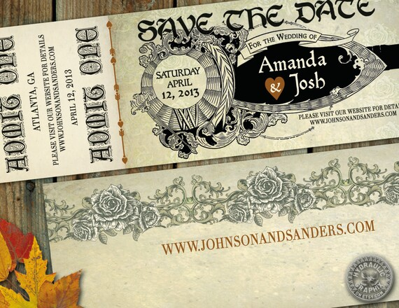 Romeo And Juliet Wedding Invitations: Medieval Times Or Renaissance Or Shakespeare By