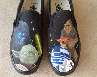 Custom Hand Painted Shoes - Star Wars