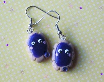 Kawaii Grape Pastry Baker Earrings Polymer Clay Jewelry Lolita Harajuku Asian Fashion Accessories Free Shipping USA