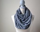 Gray Infinity Scarf - Ready to ship - Fall Scarf