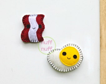 Felt Magnet Set - Give Me All The Bacon and Eggs