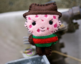 Felt Freddy Krueger - Pocket Plush Toy